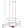 Гидроцилиндр на самосвал 4-х штоковый (длина 1 штока 1433 мм)тип - Изображение1
