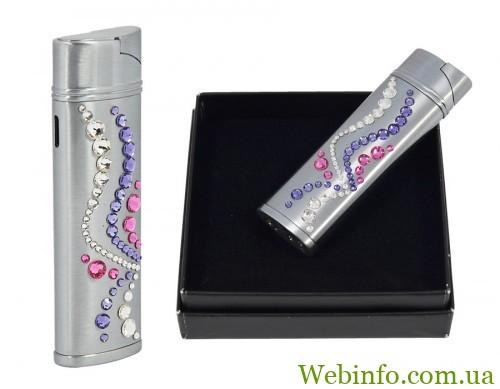 53.7 Swarovski-zapalniczka-pudełko-biało-fioletowo-różowe-2w1