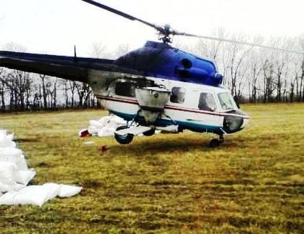 внесение селитры вертолетом