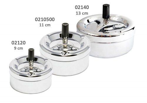 02120, 02140,021050-popielniczki-metalowa-chrom-9-11-13-cm