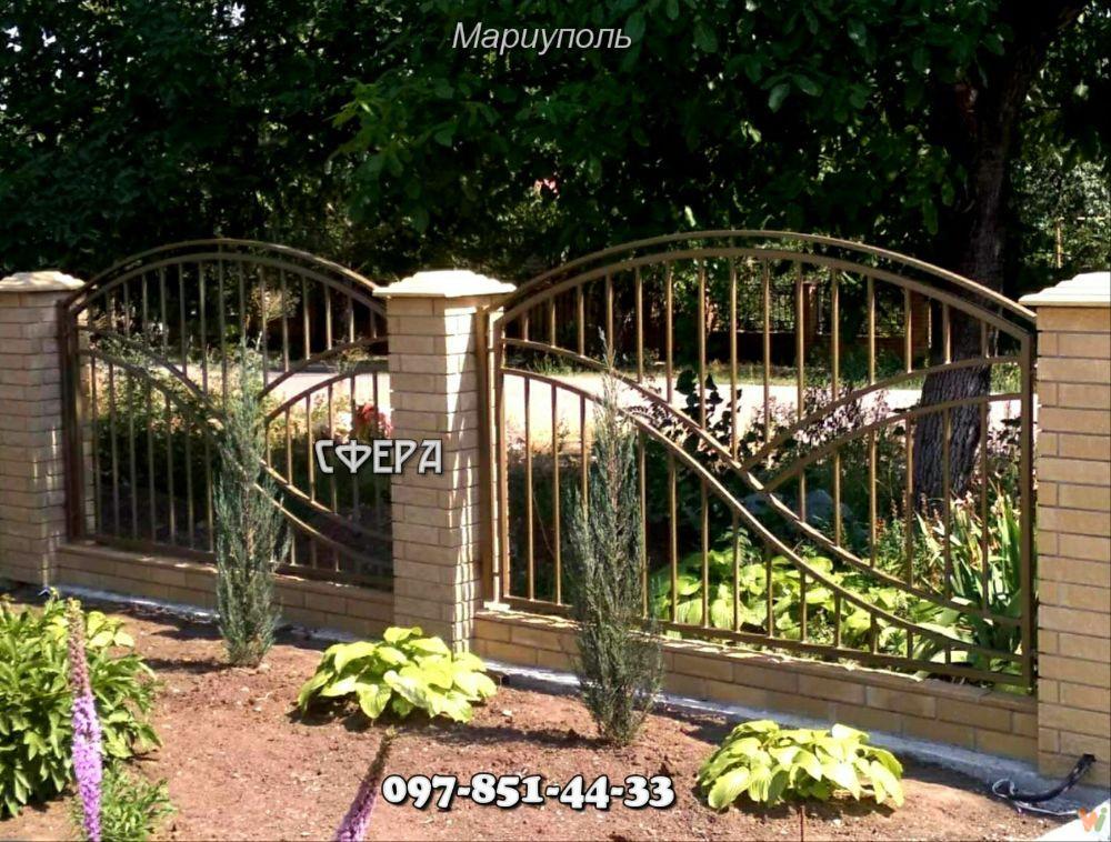 Забор в стиле лофт